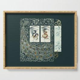 Snake Eyes :: Fine Art Collage Serving Tray