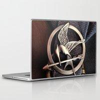 mockingjay Laptop & iPad Skins featuring Mockingjay by andyglenndavies