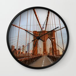 Brooklyn Bridge Sunrise Wall Clock