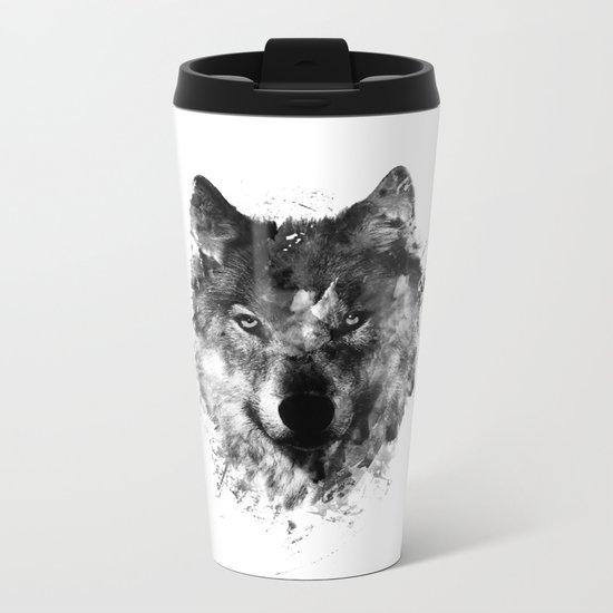 Wolf Like Me V2 Metal Travel Mug