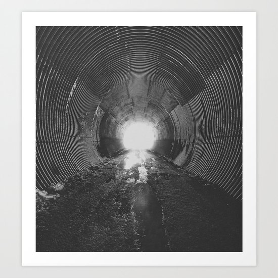 Darkened Tunnel Art Print