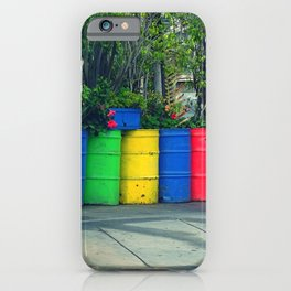 Rainbow in the city iPhone Case