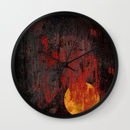 Bloody sun Wall Clock
