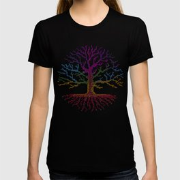 Rainbow Chakra Tree of Life - Real Stitch-able Color Coded Cross Stitch Chart T-shirt