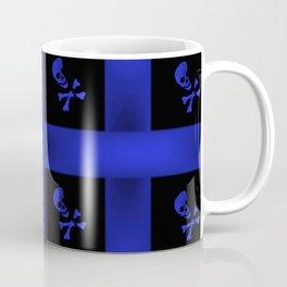 Blue Skulle Pattern Coffee Mug