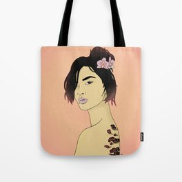 Cloudy Lady Tote Bag