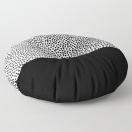 Dots and Black Floor Pillow