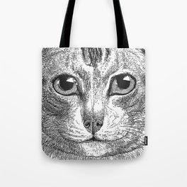 Black & White - Kitty Cat Close Up Tote Bag