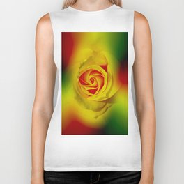 Abstract in Perfection - Rose Biker Tank