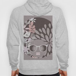 Afro Diva : Sophisticated Lady Pale Pink Peach Beige Hoody