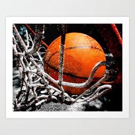 Basketball bounce version 1 Art Print