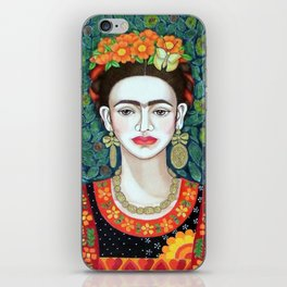 Frida, queen of hearts closer II iPhone Skin