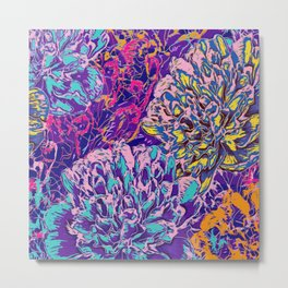 Very colorful abstract flowers Metal Print