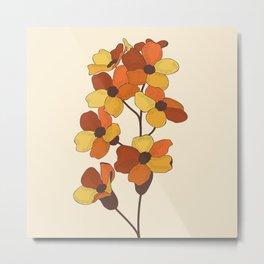 70's Flowers Metal Print