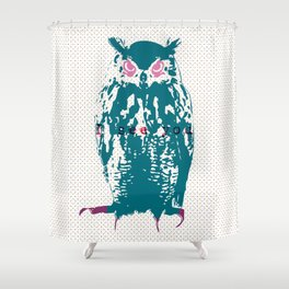 I see You (Lost Time Owl) Shower Curtain