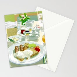Breakfast at a Hotel Stationery Cards