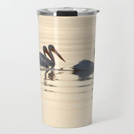WHITE PELICANS ON THE SALTON SEA Travel Mug