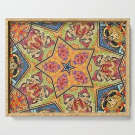 Psychedelic Yoga Kalidoscope Art Serving Tray