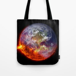 Global Warming Climate Change Tote Bag