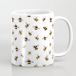 Bumblee Bee Watercolor Pattern Coffee Mug