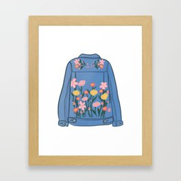 Groovy Jean Jacket Framed Art Print