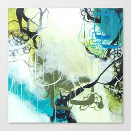 Everglades - Square Abstract Expressionism Canvas Print
