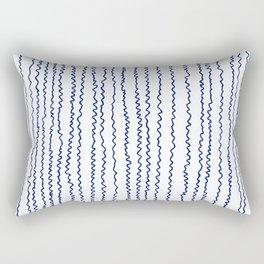navy wavy stripes Rectangular Pillow