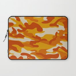 Orange Military Camouflage Pattern Laptop Sleeve