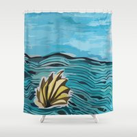 shell Shower Curtains featuring Shell by I'm Knot Tangled