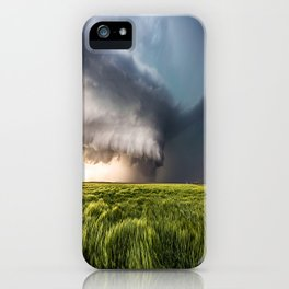 Leoti's Masterpiece - Incredible Storm in Western Kansas iPhone Case