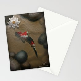The carp's journey 2 Stationery Cards