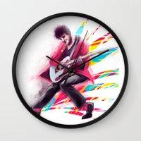 darren criss Wall Clocks featuring Listen Up Darren Criss by Ines92