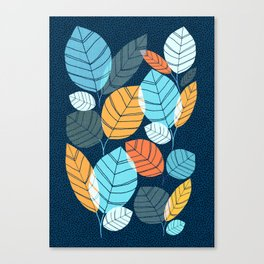 Contemporary Leaf Print Canvas Print