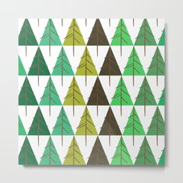 Seamless pattern. Christmas tree. Metal Print
