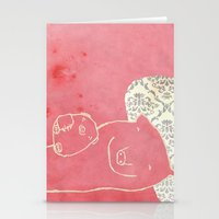 pig Stationery Cards featuring Pig by yael frankel