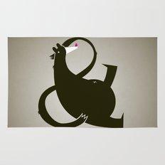 amp-bear-sand poster Rug