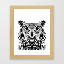 Patterned Owl Framed Art Print