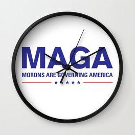 MAGA: Morons Are Governing America Design Wall Clock