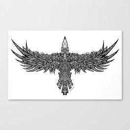 Ghost Raven Canvas Print