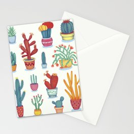 Cactus Poster Stationery Cards