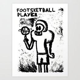 Footsketball Player Art Print