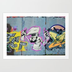 Graffiti artist Art Print