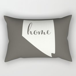 Nevada is Home - White on Charcoal Rectangular Pillow