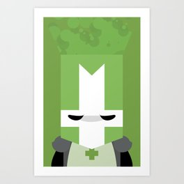 Green Knight (Castle Crashers) Art Print