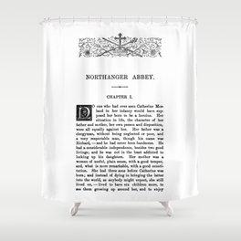 Northanger Abbey Jane Austen First Page Shower Curtain