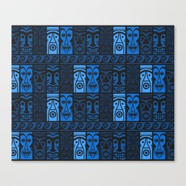 Blue Tikis! Canvas Print