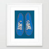 sneakers Framed Art Prints featuring Sneakers by Sam Ayres
