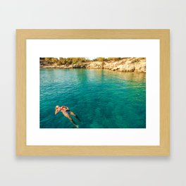 floater Framed Art Print