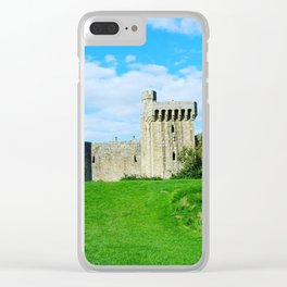 Castle on a hill Clear iPhone Case