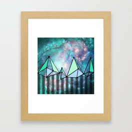 intergalactic mountains (collab) Framed Art Print